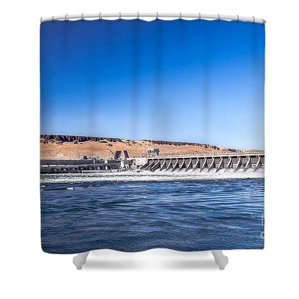 Mcnary Dam Shower Curtain by Robert Bales