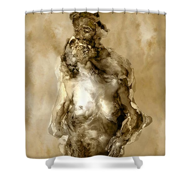 Melt Shower Curtain by Kurt Van Wagner