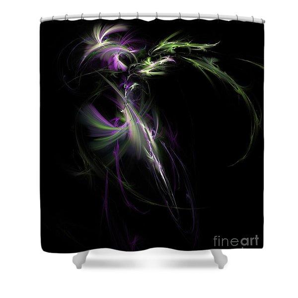 Midnight Bouquet Shower Curtain by Elizabeth McTaggart