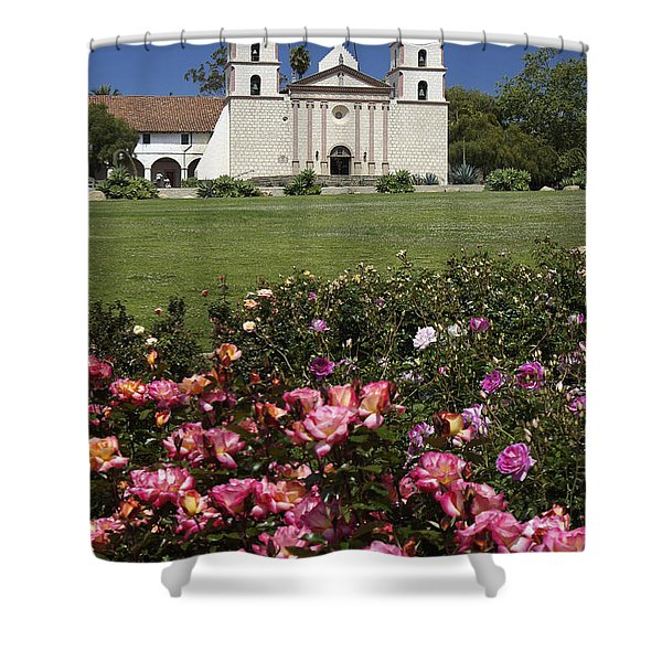 Mission Santa Barbara Shower Curtain by Michele Burgess
