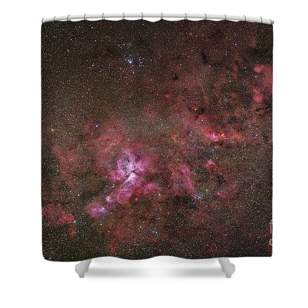 Ngc 3372, The Eta Carinae Nebula Shower Curtain by Robert Gendler