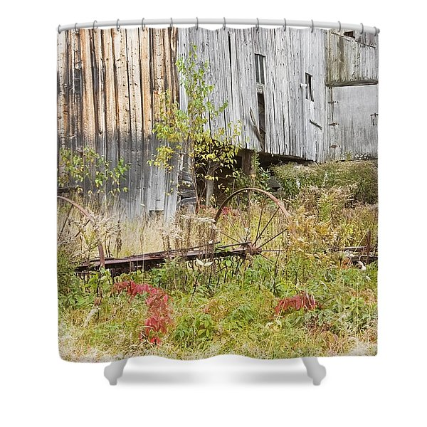 Old Barn in Fall Maine Shower Curtain by Keith Webber Jr