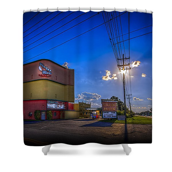 Silver Moon Shower Curtain by Marvin Spates