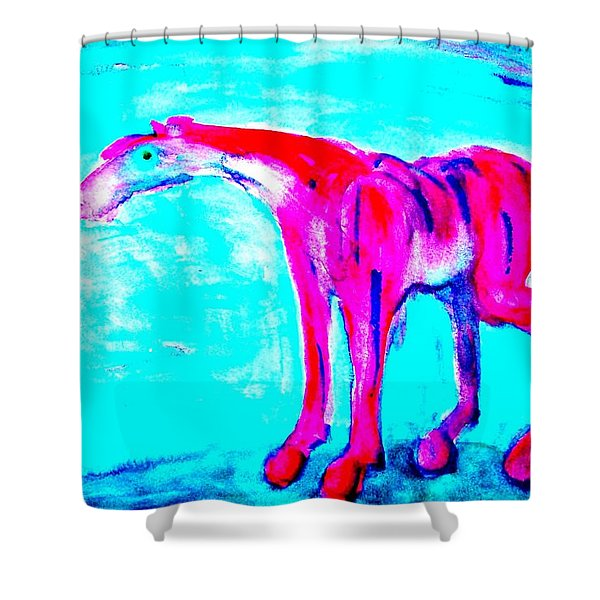 so lonely I could die Shower Curtain by Hilde Widerberg