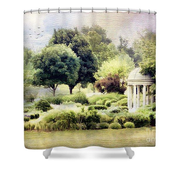 The Flower Garden Shower Curtain by Darren Fisher