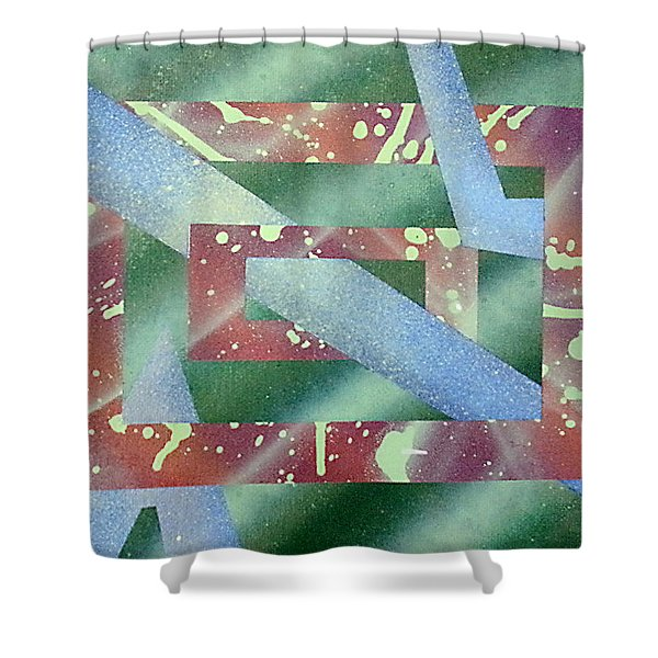 Untitled Shower Curtain by Joshua Hamell