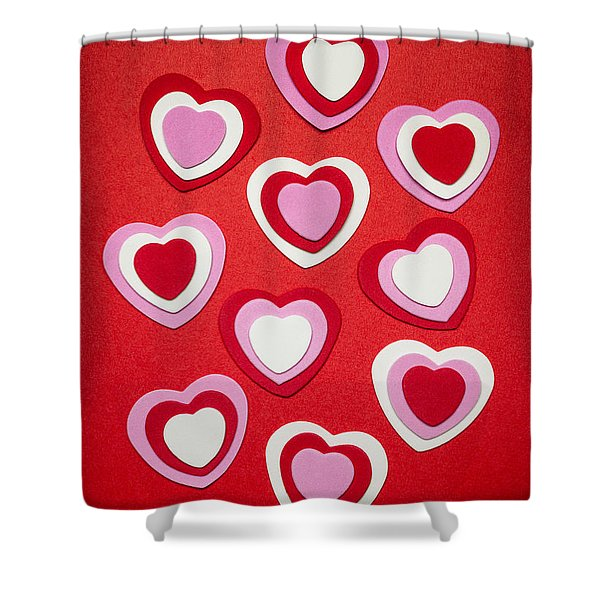 Valentines Day Hearts Shower Curtain by Elena Elisseeva