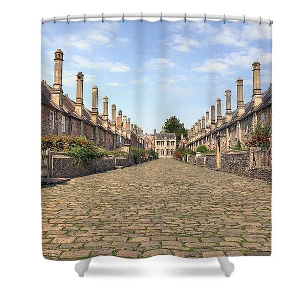 Wells Shower Curtain by Joana Kruse