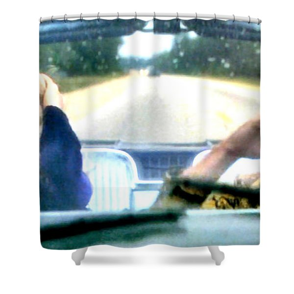 Wild At Heart Shower Curtain by Luis Ludzska