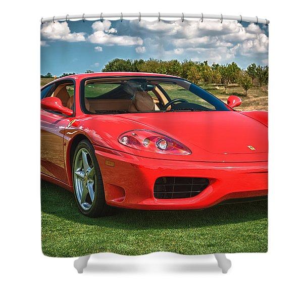 2001 Ferrari 360 Modena Shower Curtain by Sebastian Musial