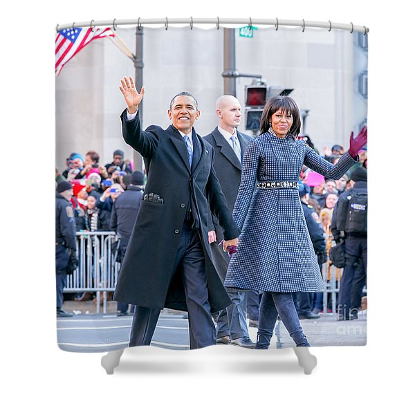 2013 Inaugural Parade Shower Curtain by Ava Reaves