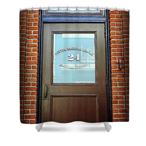 24 Yawkey Way Shower Curtain by Stephen Stookey