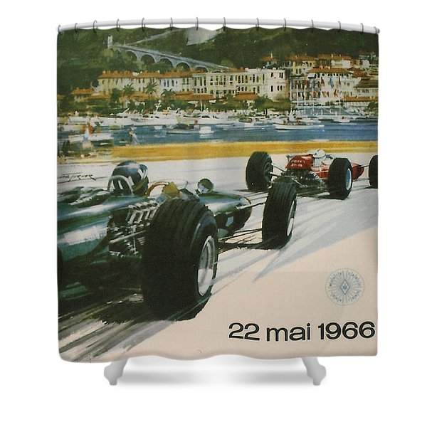 24th Monaco Grand Prix 1966 Shower Curtain by Nomad Art And  Design