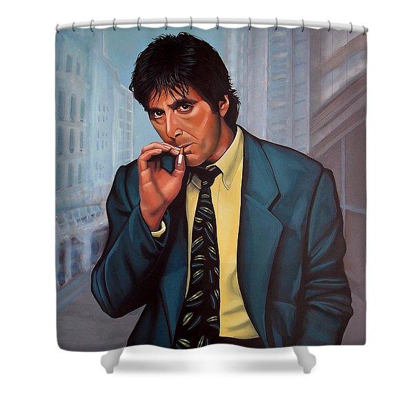 Al Pacino  Shower Curtain by Paul  Meijering