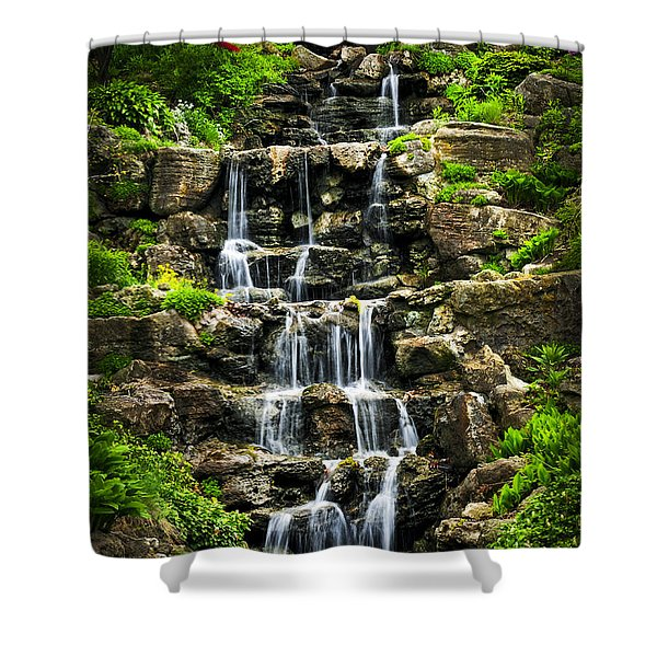 Cascading waterfall Shower Curtain by Elena Elisseeva