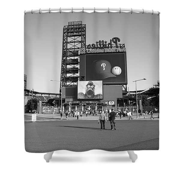 Citizens Bank Park - Philadelphia Phillies Shower Curtain by Frank Romeo