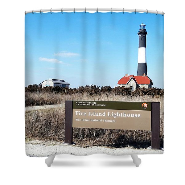 Fire Island Lighthouse Shower Curtain by Ed Weidman