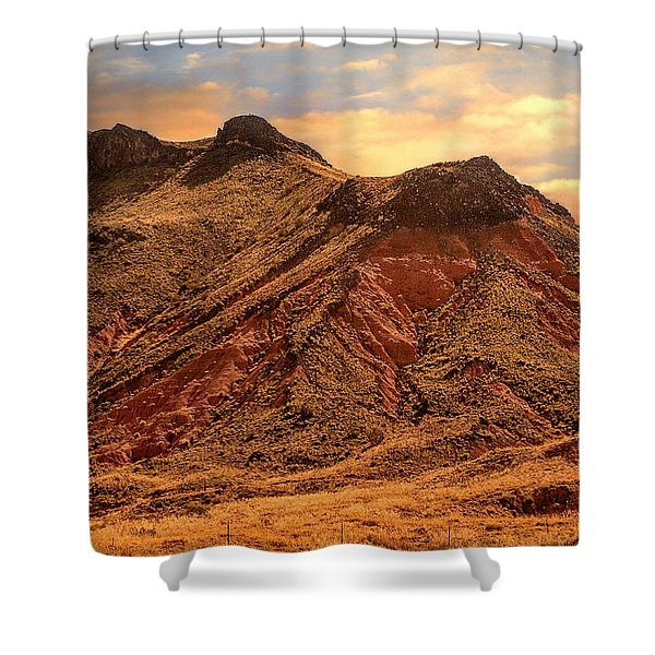 Navajo Nation Series Along 87 And 15 Shower Curtain by Bob and Nadine Johnston