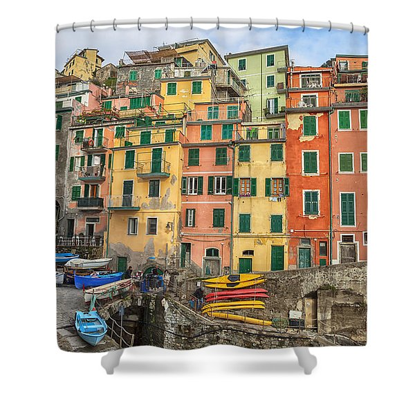 Riomaggiore Shower Curtain by Joana Kruse