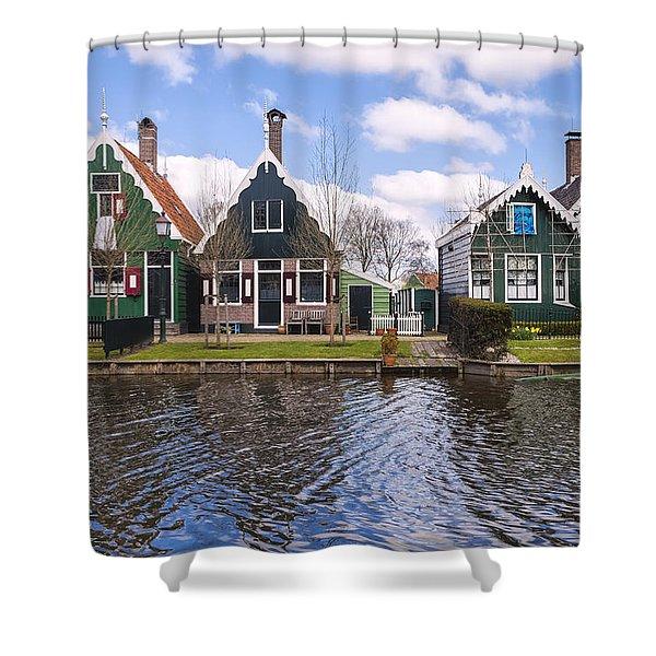 Zaanse Schans Shower Curtain by Joana Kruse