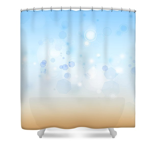Abstract background Shower Curtain by Les Cunliffe