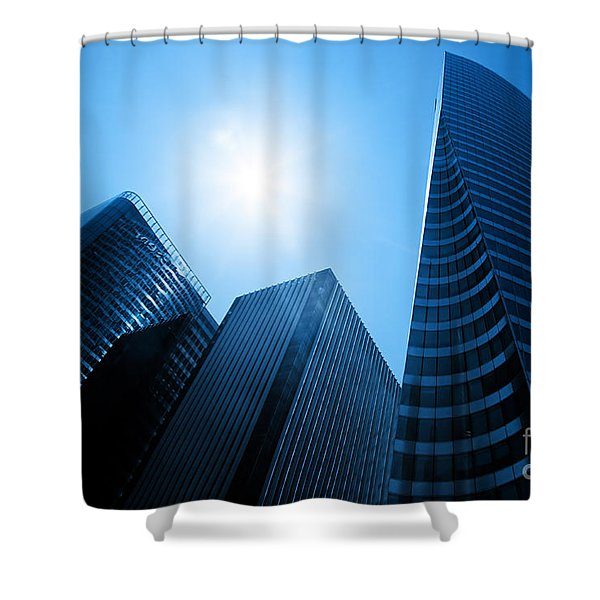 Business skyscrapers Shower Curtain by Michal Bednarek