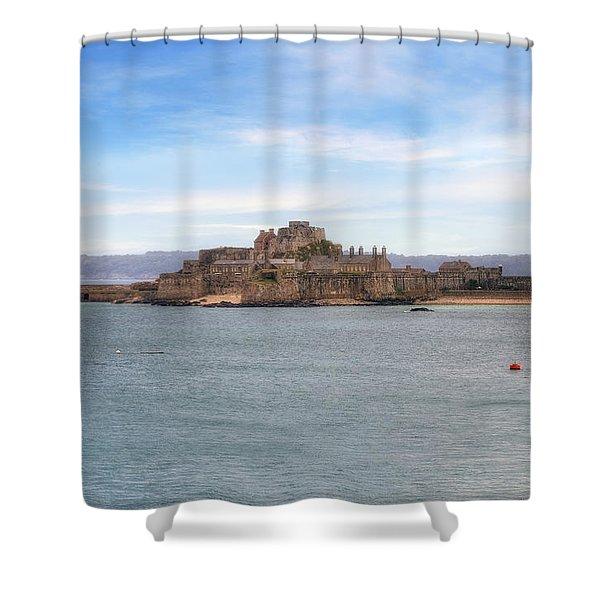 Jersey - Elizabeth Castle Shower Curtain by Joana Kruse