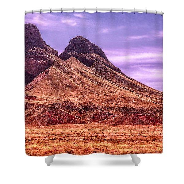 Navajo Nation Series Along 87 And 15 Shower Curtain by Bob and Nadine Johnston