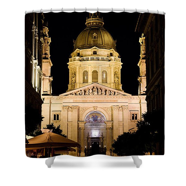 St. Stephen's Basilica In Budapest Shower Curtain by Michal Bednarek