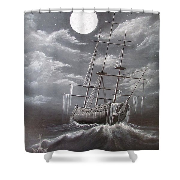 Storm Corrosion Shower Curtain by Christine Cholowsky