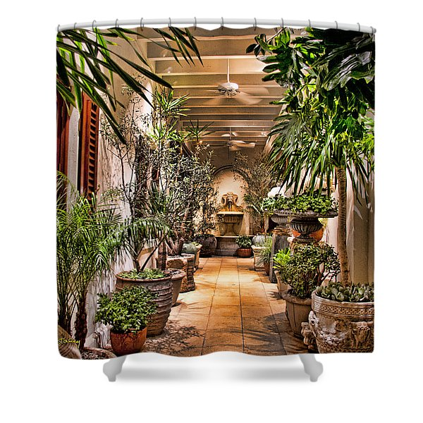 444 Rodeo Drive Shower Curtain by Chuck Staley