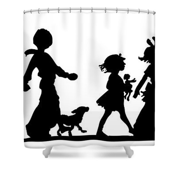 4th Of July Childrens Parade Panorama Shower Curtain by Rose Santuci-Sofranko