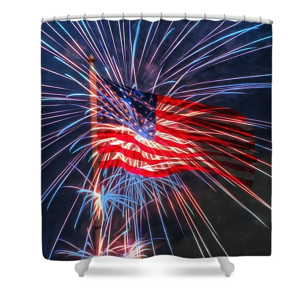4th Of July Shower Curtain by Heidi Smith