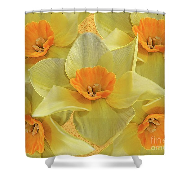 5 Daffy's On Parade Shower Curtain by Andee Design