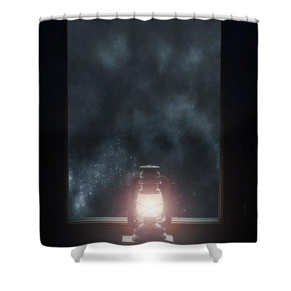 lantern Shower Curtain by Joana Kruse