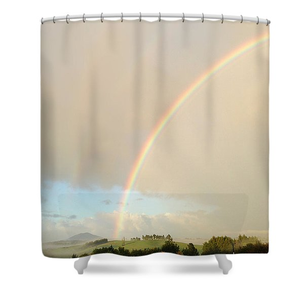 Rainbow Shower Curtain by Les Cunliffe