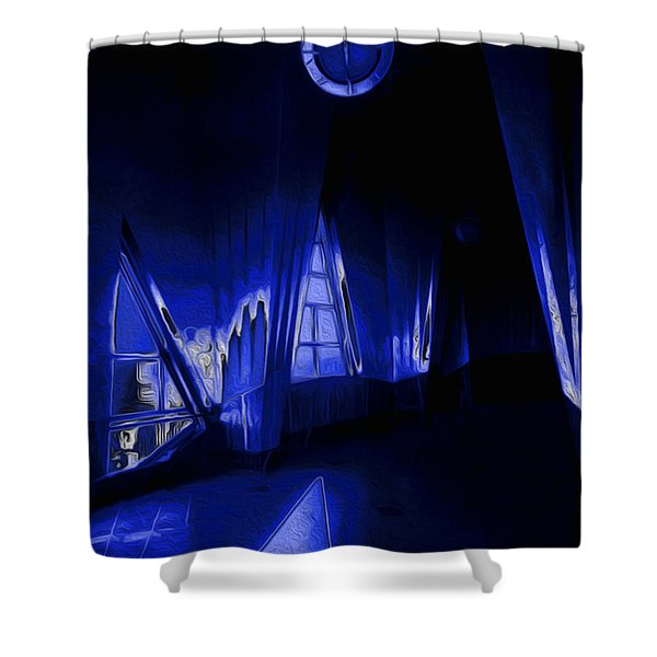 6 O'Clock  Shower Curtain by Jack Zulli