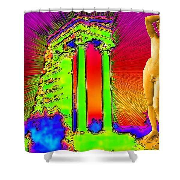 Temple Of Apollo Shower Curtain by Augusta Stylianou