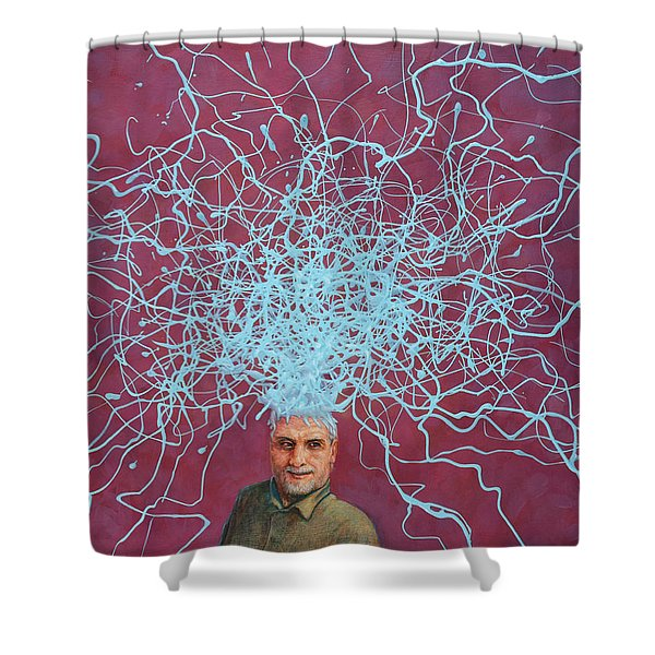 60 Watts Shower Curtain by James W Johnson