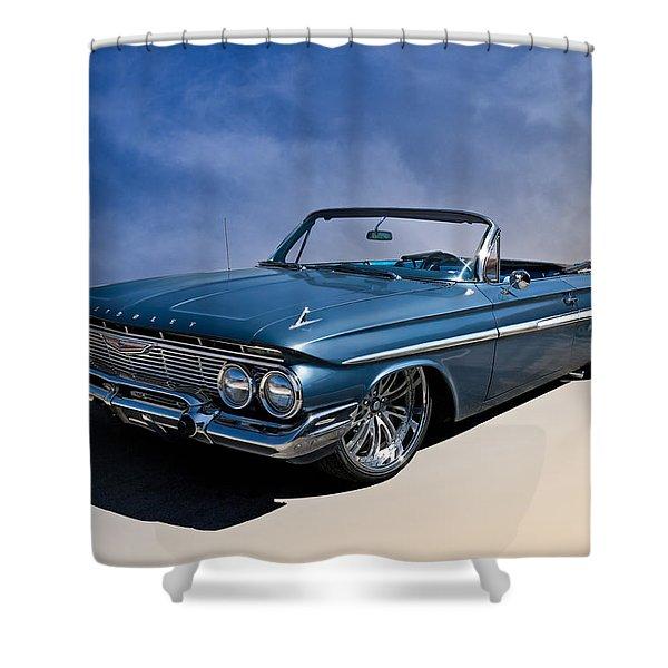 '61 Impala Shower Curtain by Douglas Pittman