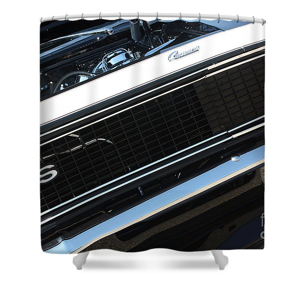 67 Black Camaro Ss Grill-8039 Shower Curtain by Gary Gingrich Galleries