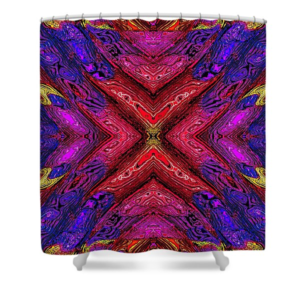 70's Blacklight Poster 6 Shower Curtain by Darrell Arnold