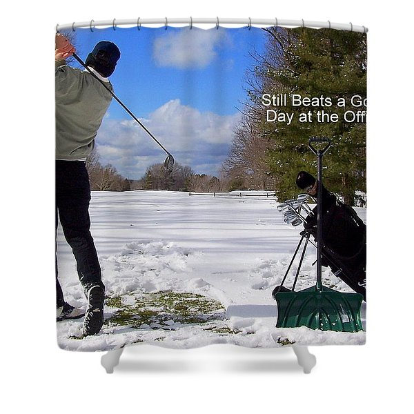 A Bad Day on the Golf Course Shower Curtain by Frozen in Time Fine Art Photography
