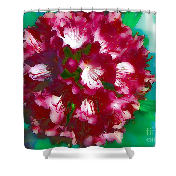 A Beautiful Rhododendron Shower Curtain by Annie Zeno