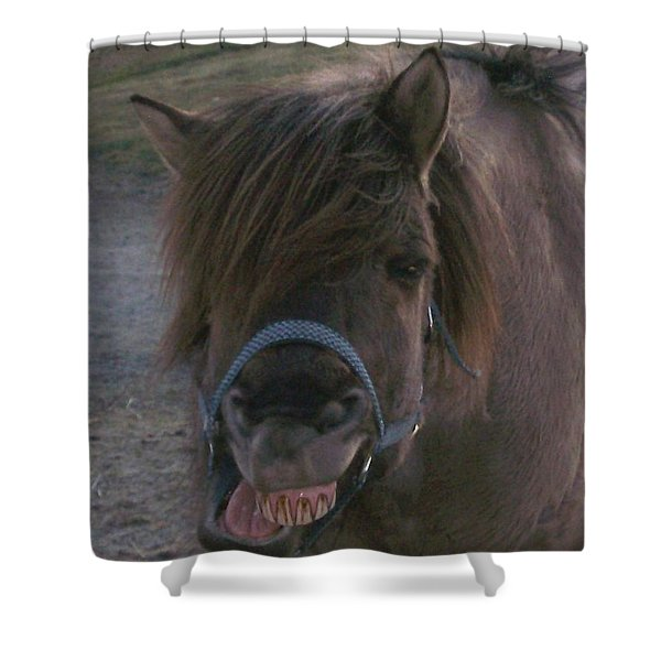 A big smile Shower Curtain by Hilde Widerberg
