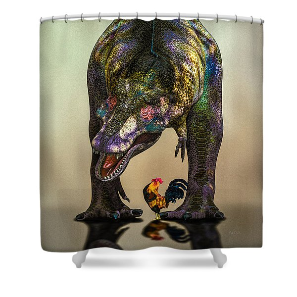 A Bird Are You Crazy Bro Shower Curtain by Bob Orsillo