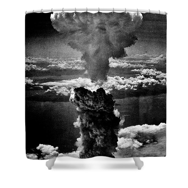 A-bomb Shower Curtain by Benjamin Yeager