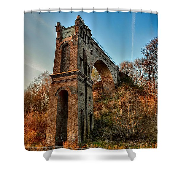 A Bridge No More Shower Curtain by Mountain Dreams