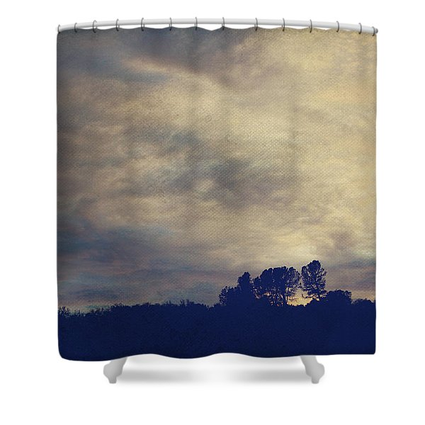 A Calm Sets In Shower Curtain by Laurie Search
