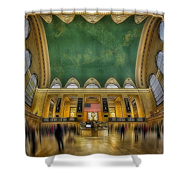 A Central View Shower Curtain by Susan Candelario